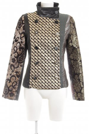 Desigual Pea Jacket abstract pattern extravagant style