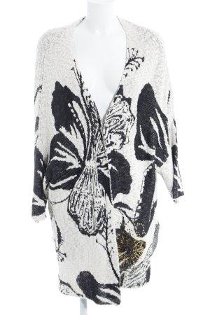 Desigual Cardigan creme abstraktes Muster Casual-Look