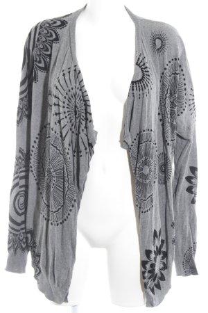 Desigual Cardigan grijs-zwart volledige print casual uitstraling