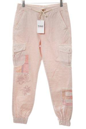 Desigual Cargo Pants pink animal pattern casual look