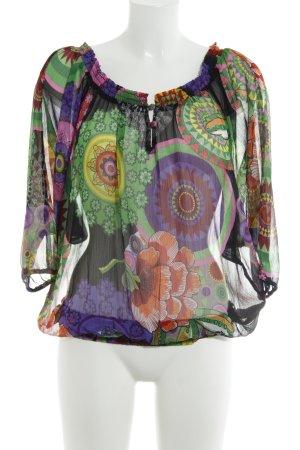 Desigual Carmen-Bluse florales Muster Hippie-Look