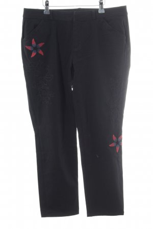 Desigual Chinohose florales Muster Casual-Look