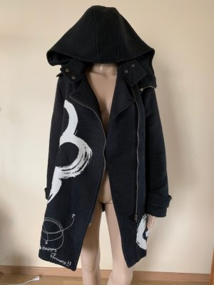 Desigual Wollen jas zwart-wit