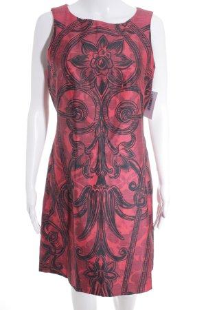 Desigual Robe de cocktail rouge foncé-noir motif floral élégant