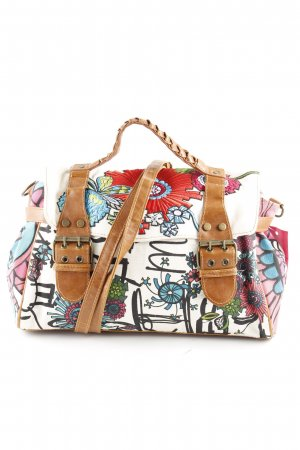 Desigual College Bag flower pattern material mix look