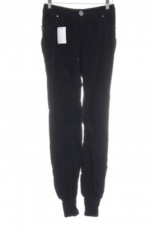 Desigual Corduroy Trousers black simple style