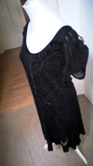 Desigual Damen Sommerkleid Schwarz mit Spitzen Gr. M