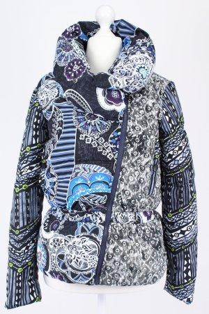 Desigual dicke Jacke mit auffälligen Muster mehrfarbig Größe 38