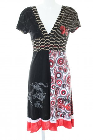 Desigual Empire Dress abstract pattern casual look