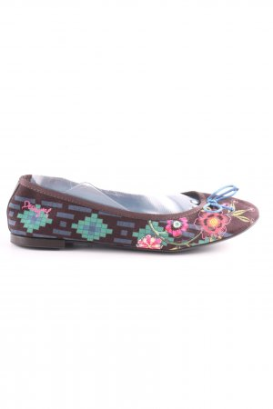 Desigual Foldable Ballet Flats flower pattern casual look