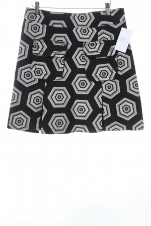 Desigual Plaid Skirt black-cream graphic pattern casual look