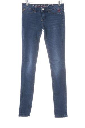 Desigual Five-Pocket Trousers dark blue street-fashion look