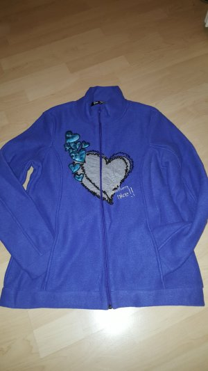 Desigual Fleece Jackets neon blue