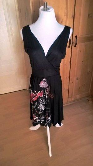 Desigual Freizeit Sommer Kleid mit Bindegürtel Gr. 40