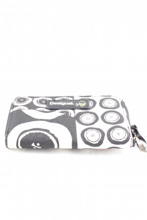 Desigual Wallet white-black graphic pattern business style