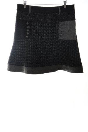 Desigual Jupe évasée noir-gris clair imprimé allover style décontracté