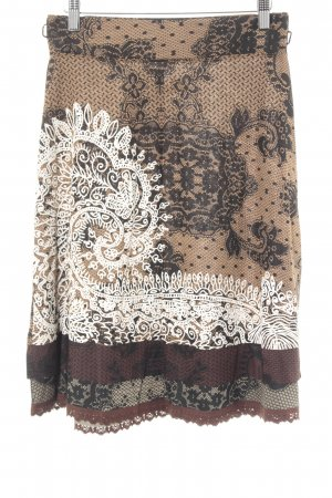 Desigual Flared Skirt abstract pattern extravagant style