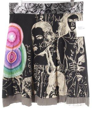 Desigual Falda acampanada estampado con diseño abstracto estilo extravagante