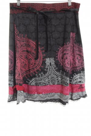 Desigual Flared Skirt abstract pattern street-fashion look