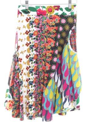 Desigual Jupe évasée motif de fleur style hippie