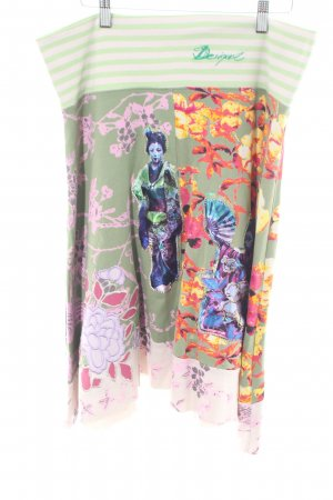Desigual Flared Skirt allover print casual look