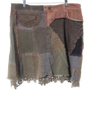 Desigual Jupe évasée Mélange de motifs Aspect de patchwork