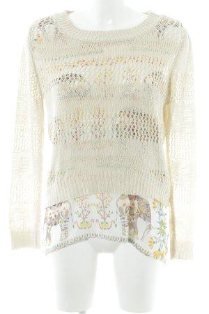Desigual Top en maille crochet Mélange de motifs style décontracté