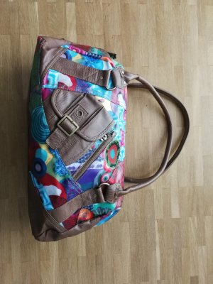 Desigual Carry Bag bronze-colored imitation leather