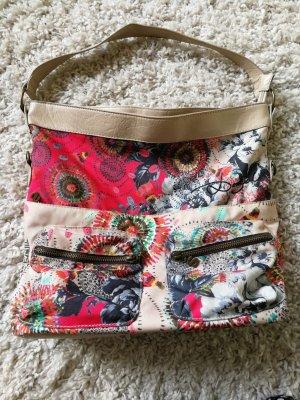 Desigual Handtasche / Hobo Bag - Beige/Bunt