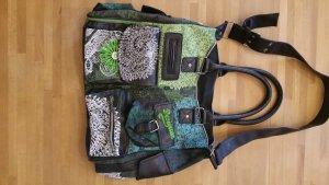 Desigual Handtasche schwarz/grün