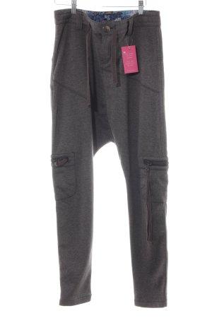 Desigual Pantalón estilo Harem gris Botones extravagantes