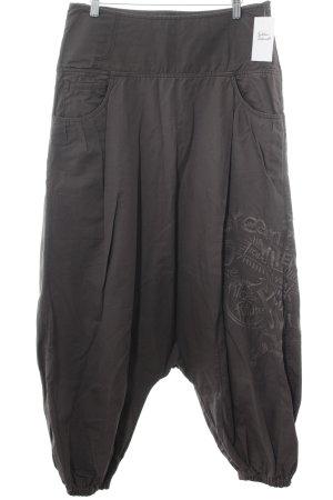 Desigual Harem Pants green grey embroidered lettering skater style