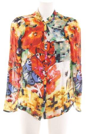 Desigual Hemd-Bluse abstraktes Muster Casual-Look