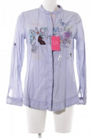 Desigual Hemd-Bluse himmelblau Motivdruck Casual-Look