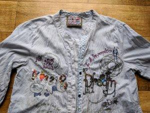 Desigual Hemd Bluse mit Pailletten und Stickerei * wie neu