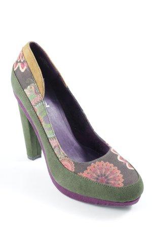 Desigual High Heels florales Muster Casual-Look