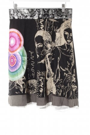 Desigual High Waist Rock abstraktes Muster Casual-Look