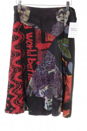 Desigual High Waist Rock abstraktes Muster extravaganter Stil