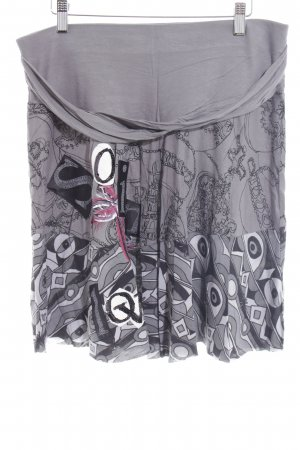 Desigual High Waist Rock Kunstmuster Urban-Look
