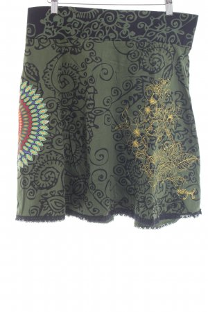 Desigual High Waist Skirt themed print hippie style