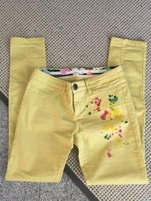 Desigual Low-Rise Trousers primrose