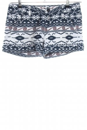Desigual Hot Pants blau-weiß abstraktes Muster Casual-Look