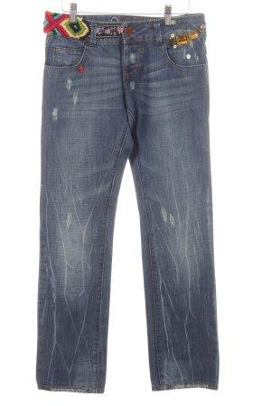 Desigual Low Rise jeans blauw Boho uitstraling