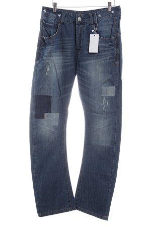 Desigual Hüftjeans dunkelblau-blau extravaganter Stil