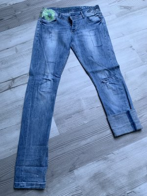 Desigual Jeans vita bassa blu
