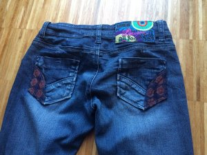 Desigual Low Rise Jeans dark blue