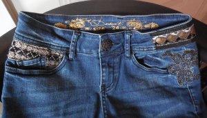 #Desigual Jeans Gr.24 Deutsche Größe 34 #dark wash