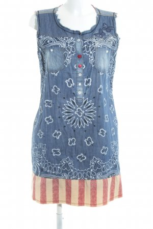 Desigual Denim Dress abstract pattern jeans look