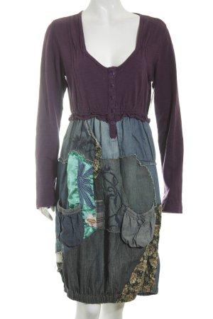 Desigual Jeanskleid blau-dunkelviolett Street-Fashion-Look