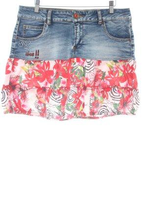 Desigual Jupe en jeans motif floral Look de plage